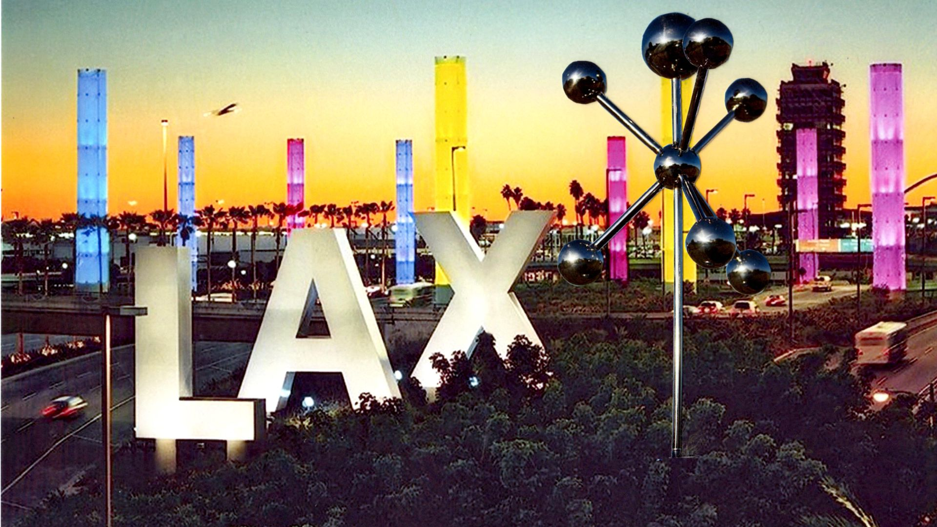 Airport Sky Sculpture LAX, develkoped for LA World Airport, USA, by Hans-Leo Peters 2016
