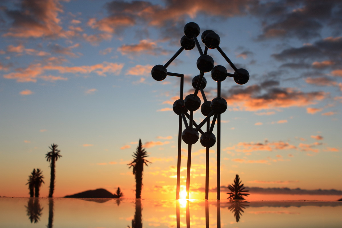 Sky Sculpture CROSS by Hans-Leo Peters 2015