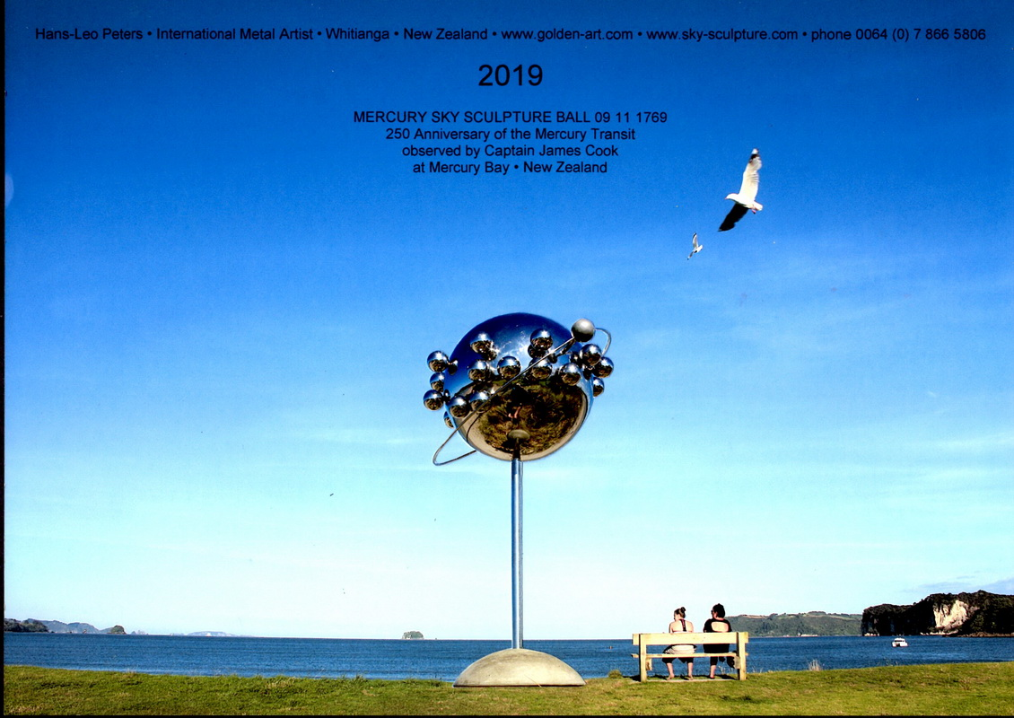Sky Sculpture Mercury Transit Ball 09 11 1769 New Zealand Icon for Mercury Bay by Hans-Leo Peters 2019
