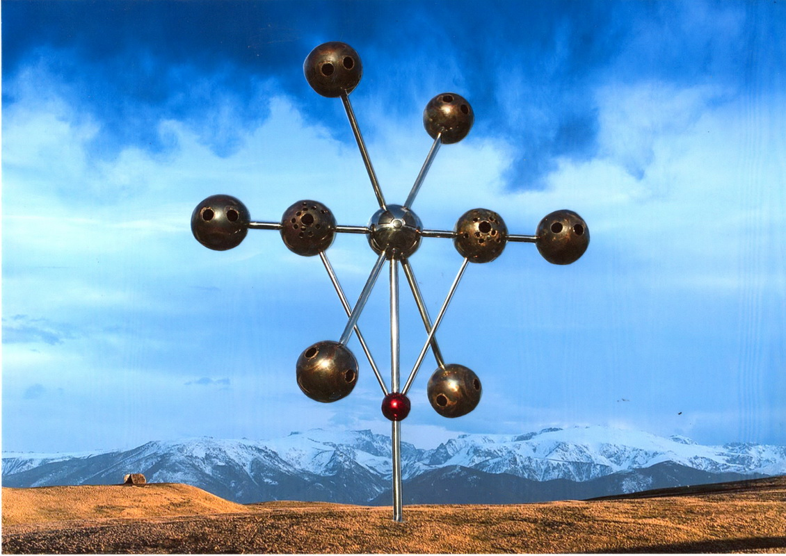 Sky Sculpture WAR by Hans-Leo Peters 2017, proposal Tippet Rise Art Centre USA side sund of the war