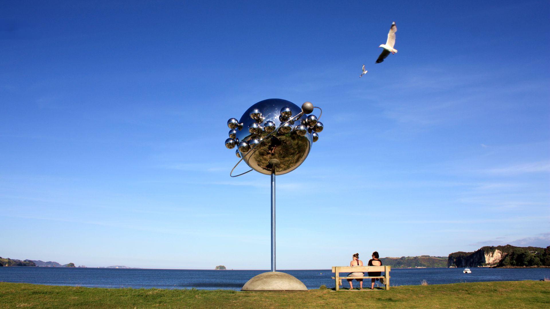 Sky Sculpture Mercury Transit Ball 09 11 1769 New Zealand Icon for Mercury Bay by Hans-Leo Peters 2019 slide2
